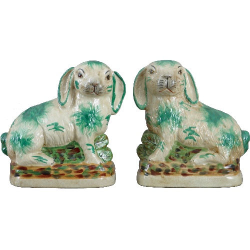 "8"" Green Hares - Pair by Oriental Danny"
