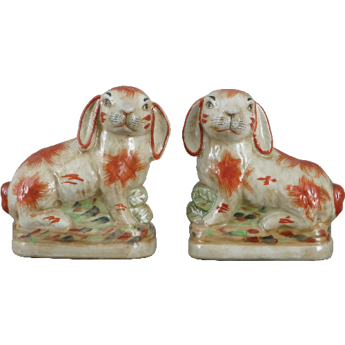 "8"" Orange Hares - Pair by Oriental Danny"