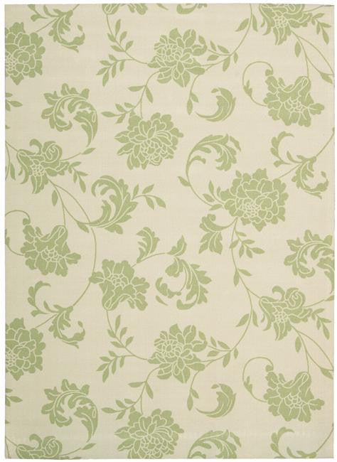 Home & Garden RS014 Green Outdoor Patio Rug By Nourison