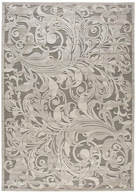 Graphic Illusions GIL01 Grey Camel Area Rug By Nourison