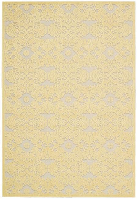 Graphic Illusions GIL07 Yellow Area Rug By Nourison