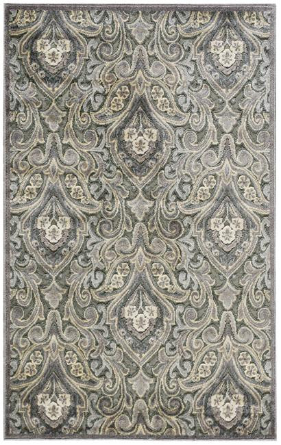 Graphic Illusions GIL11 Grey Area Rug By Nourison