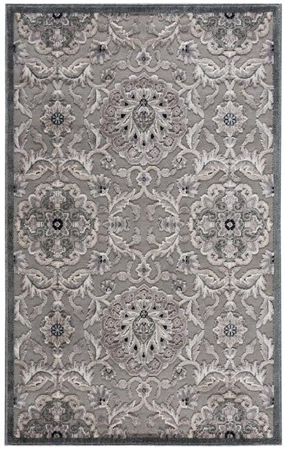 Graphic Illusions GIL12 Grey Area Rug By Nourison
