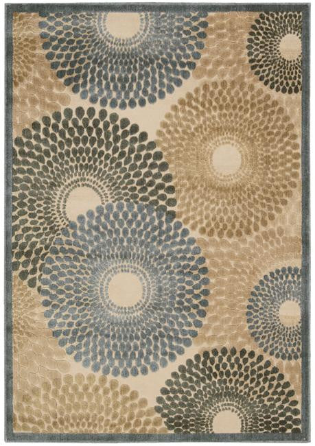 Graphic Illusions GIL04 Teal Area Rug By Nourison