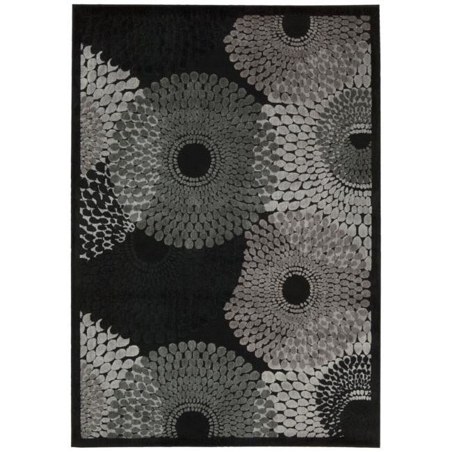 Graphic Illusions GIL04 Black Area Rug By Nourison