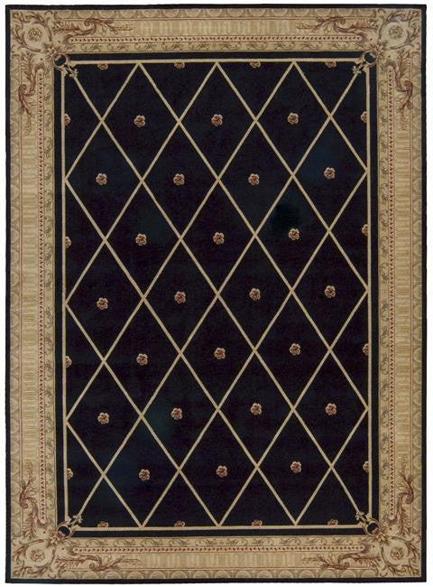Ashton House AS03 Black Area Rug By Nourison