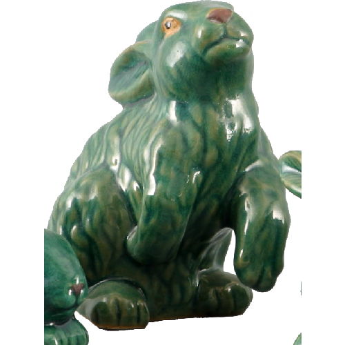 "6"" Green Bunny (Set of 2) by Oriental Danny"