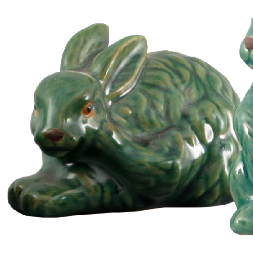 "4"" Green Bunny (Set of 2) by Oriental Danny"