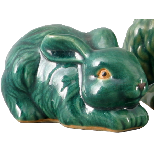 "2 3/4"" Green Bunny (Set of 3) by Oriental Danny"