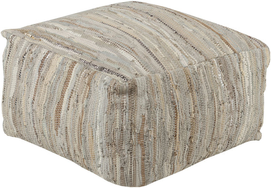 Anthracite Cube Pouf ATPF-001 by Surya