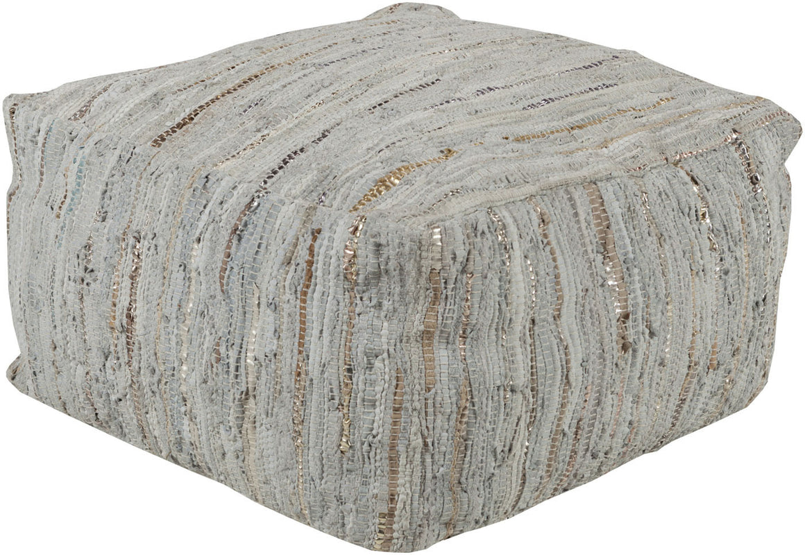 Anthracite Cube Pouf ATPF-002 by Surya