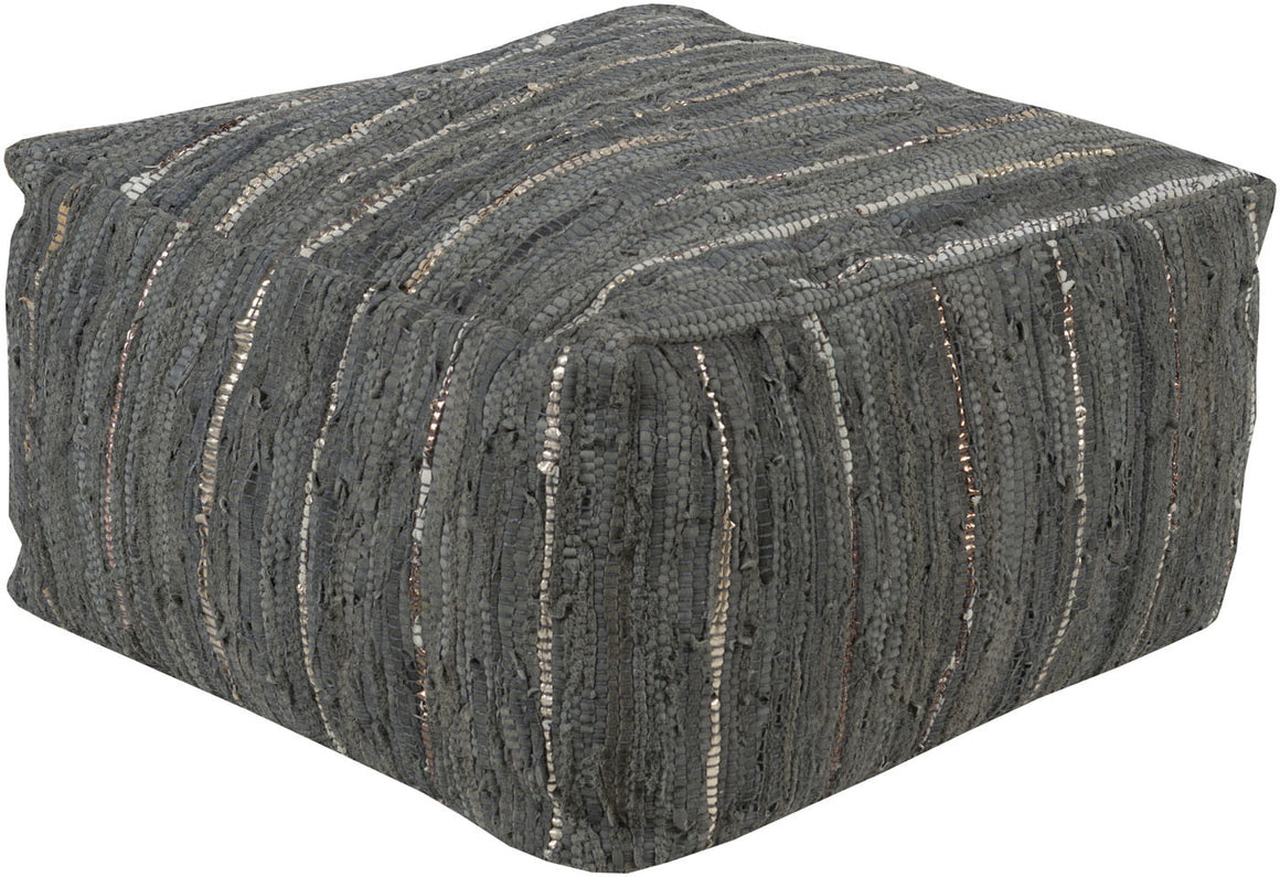 Anthracite Cube Pouf ATPF-003 by Surya