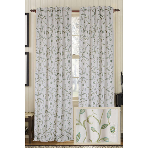 Bedazzle Linen/Cotton Drapes - Ivory