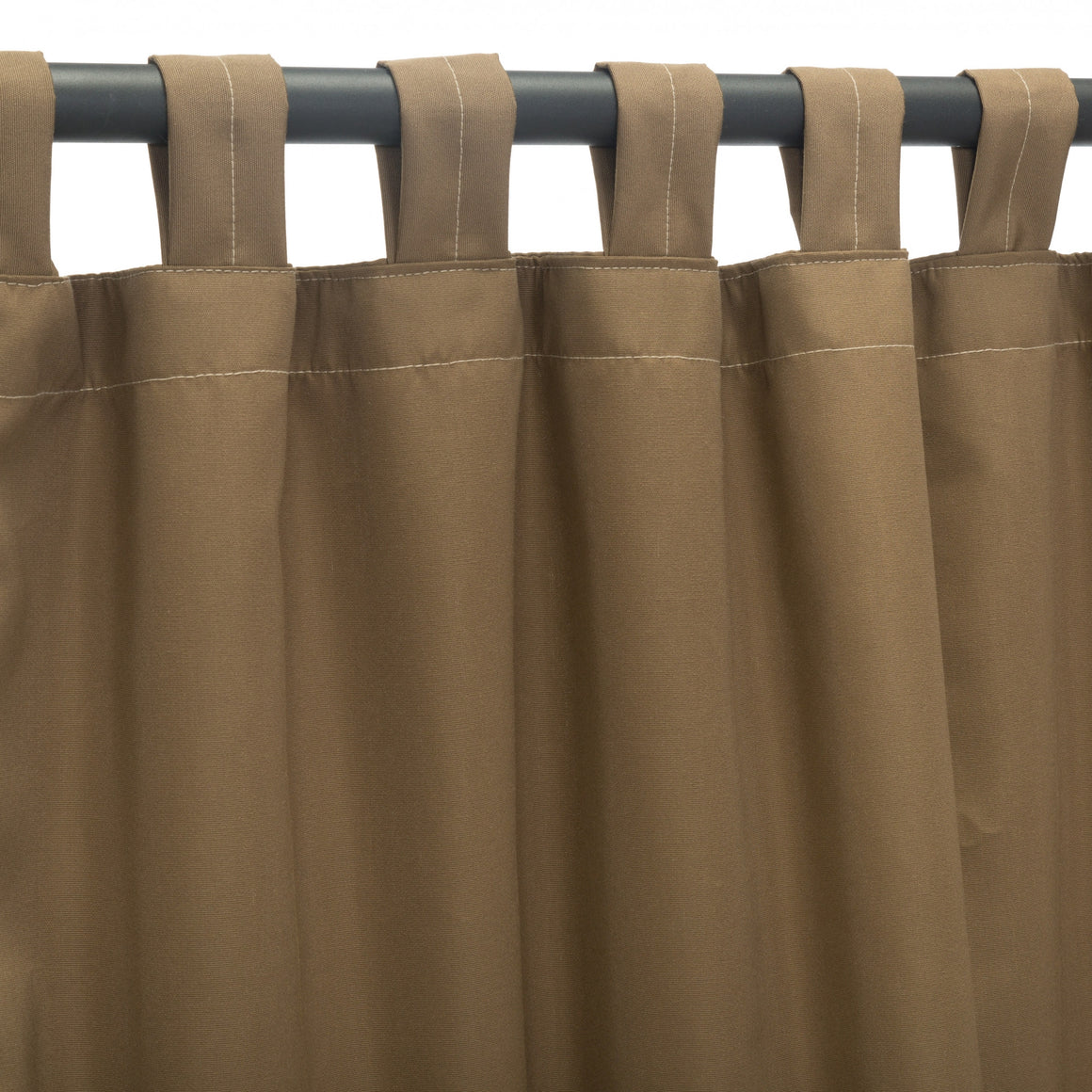 Sunbrella Outdoor Curtain With Tabs - Canvas Cocoa