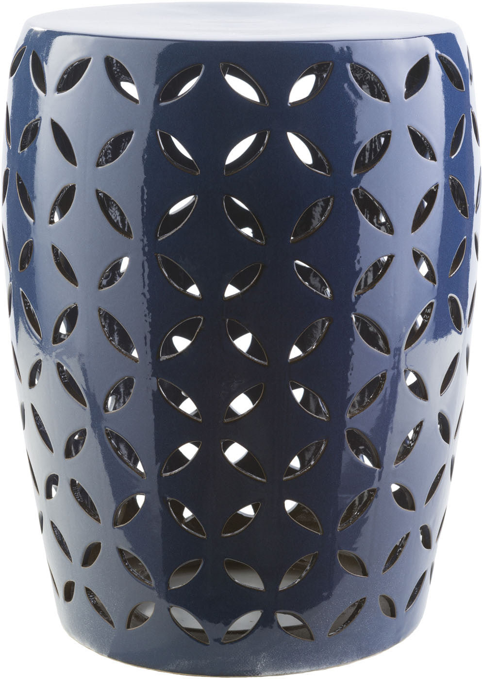 Chantilly Ceramic Stool - Cobalt CHT760-M by Surya