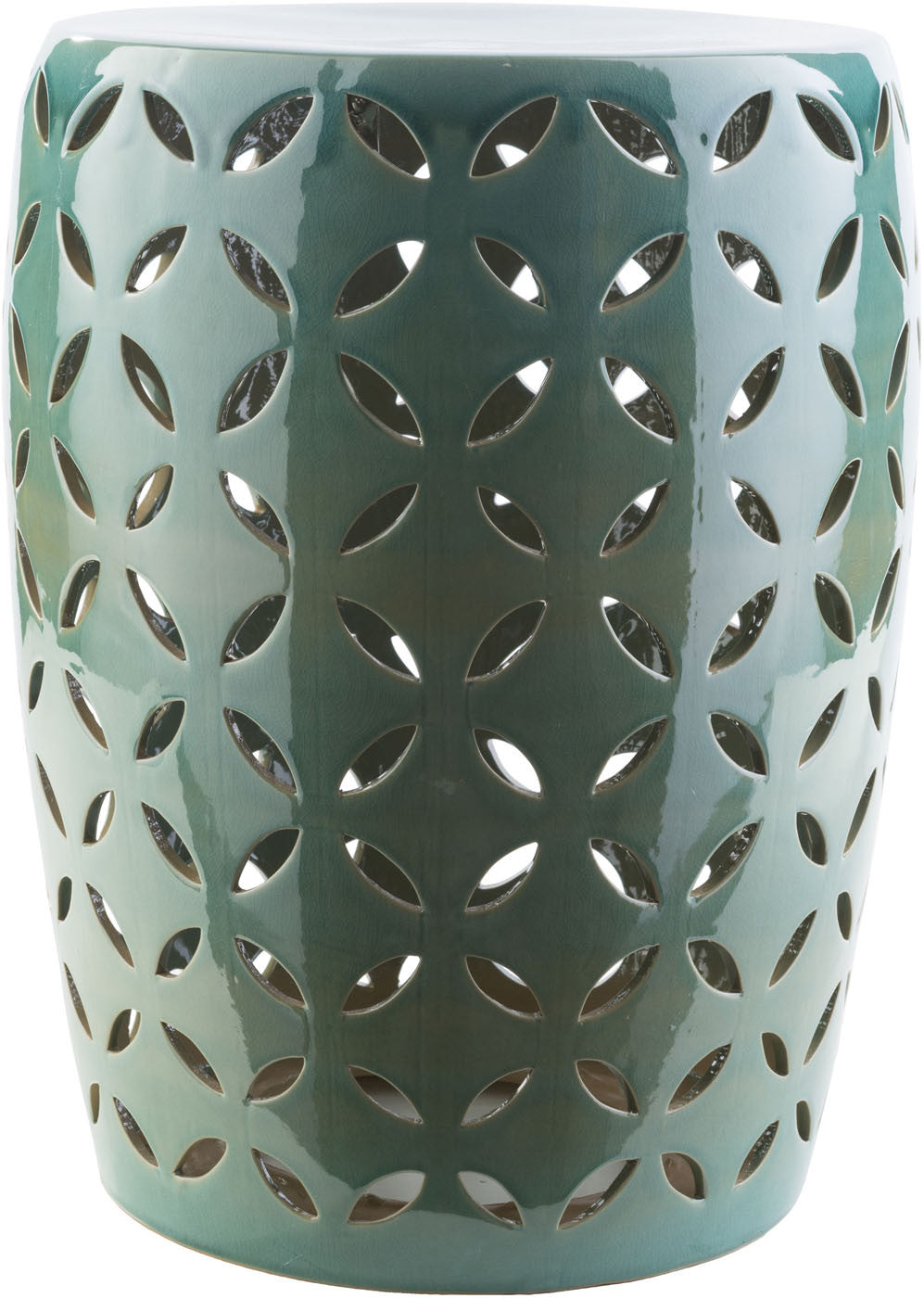 Chantilly Ceramic Stool - Teal CHT761-M by Surya