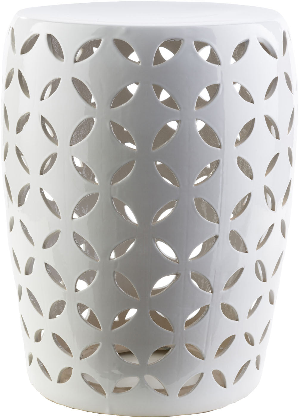 Chantilly Ceramic Stool - Ivory CHT762-M by Surya