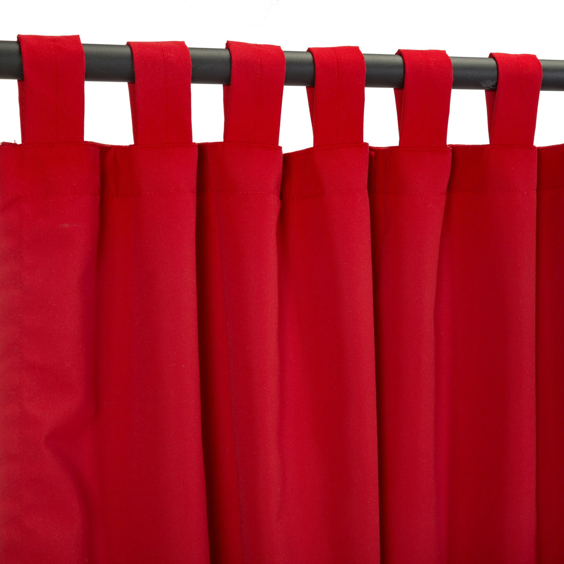 Sunbrella Outdoor Curtain With Tabs - Canvas Jockey Red