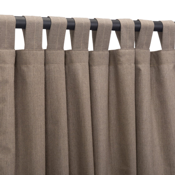 Sunbrella Outdoor Curtain With Tabs - Cast Shale
