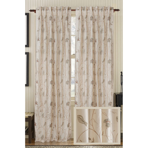 Cutesy Silk Drapes - Ivory