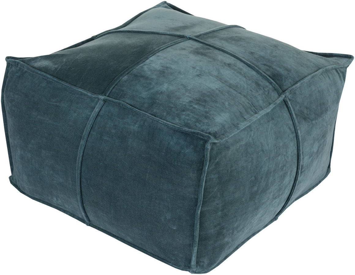 Cotton Velvet Cube Pouf CVPF-004 by Surya
