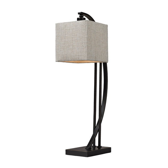 Arched Metal Table Lamp In Madison Bronze D150
