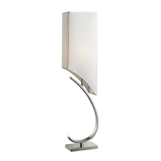 Appleton Table Lamp In Polished Nickel With Pure White Shade D2005