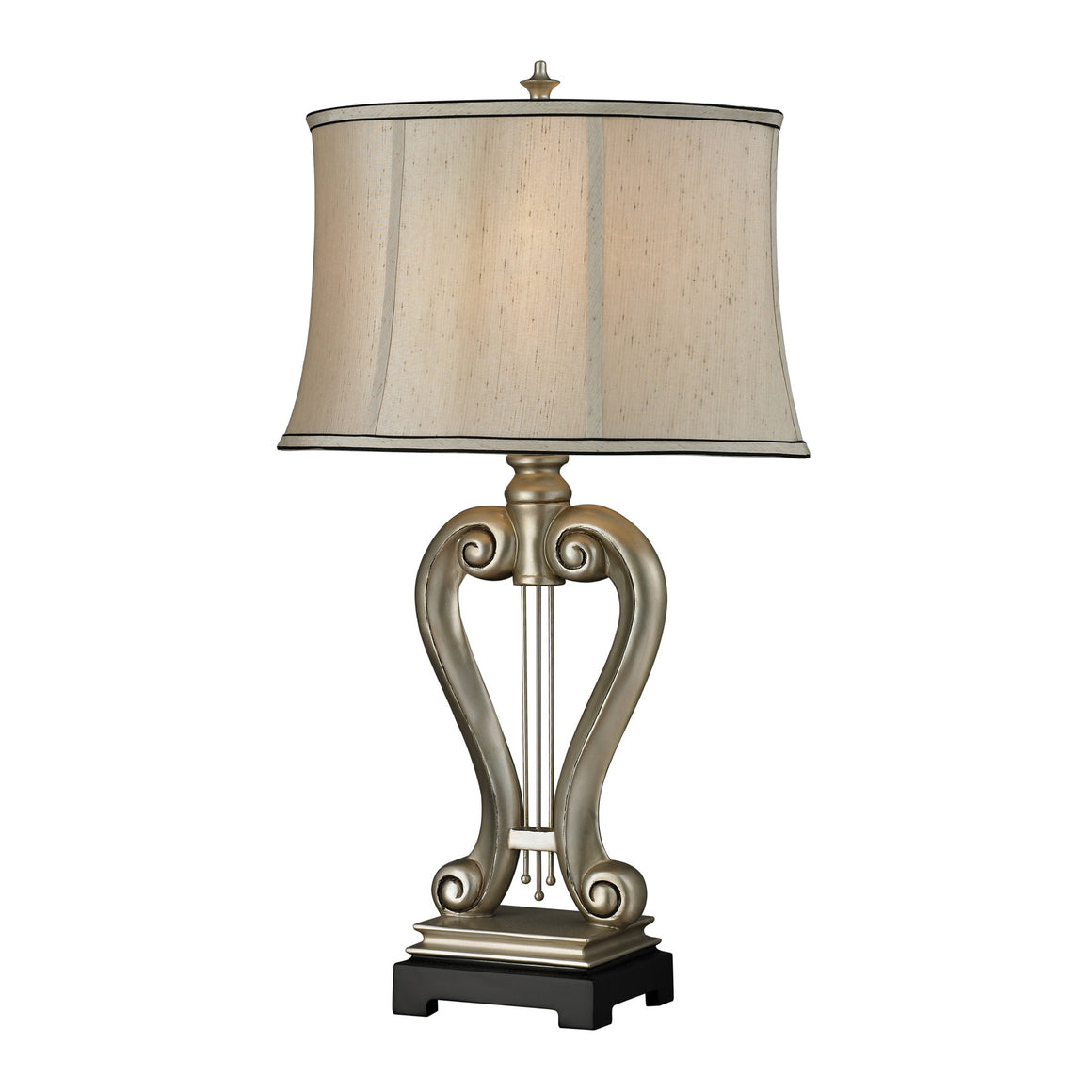 "30"" Silver Harp Table Lamp D2403"