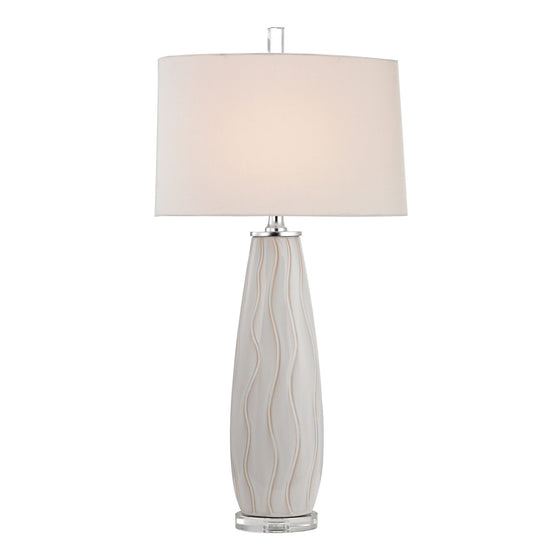 Andover Ceramic Table Lamp in Washington White D2452