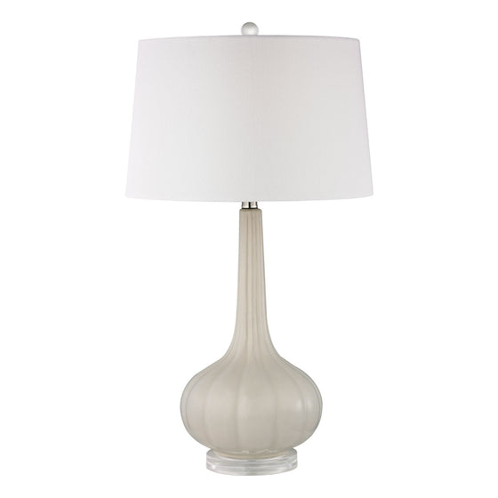 Abbey Lane Ceramic Table Lamp in Off White D2458
