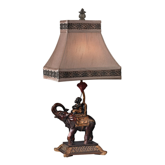 Alanbrook Elephant & Monkey Table Lamp in Bronze D2476