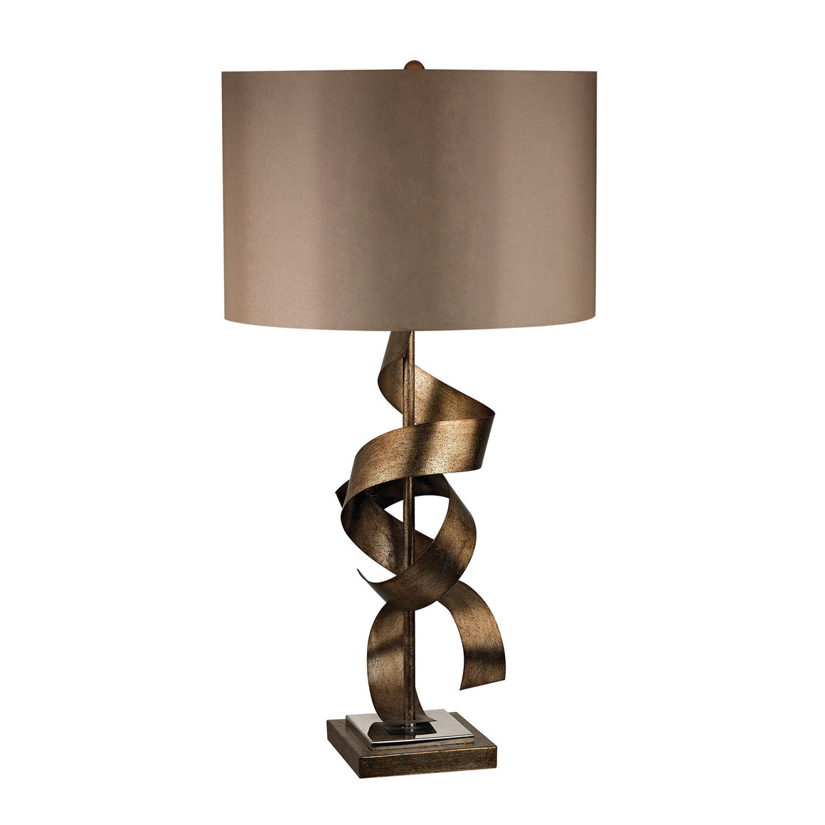 Allen Metal Sculpture Table Lamp in Roxford Gold D2688