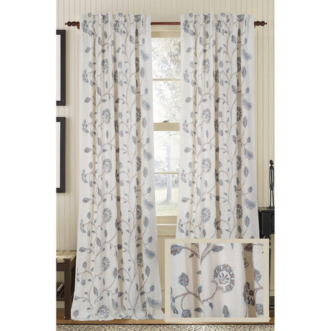 Foliage Burlap Drapes - White