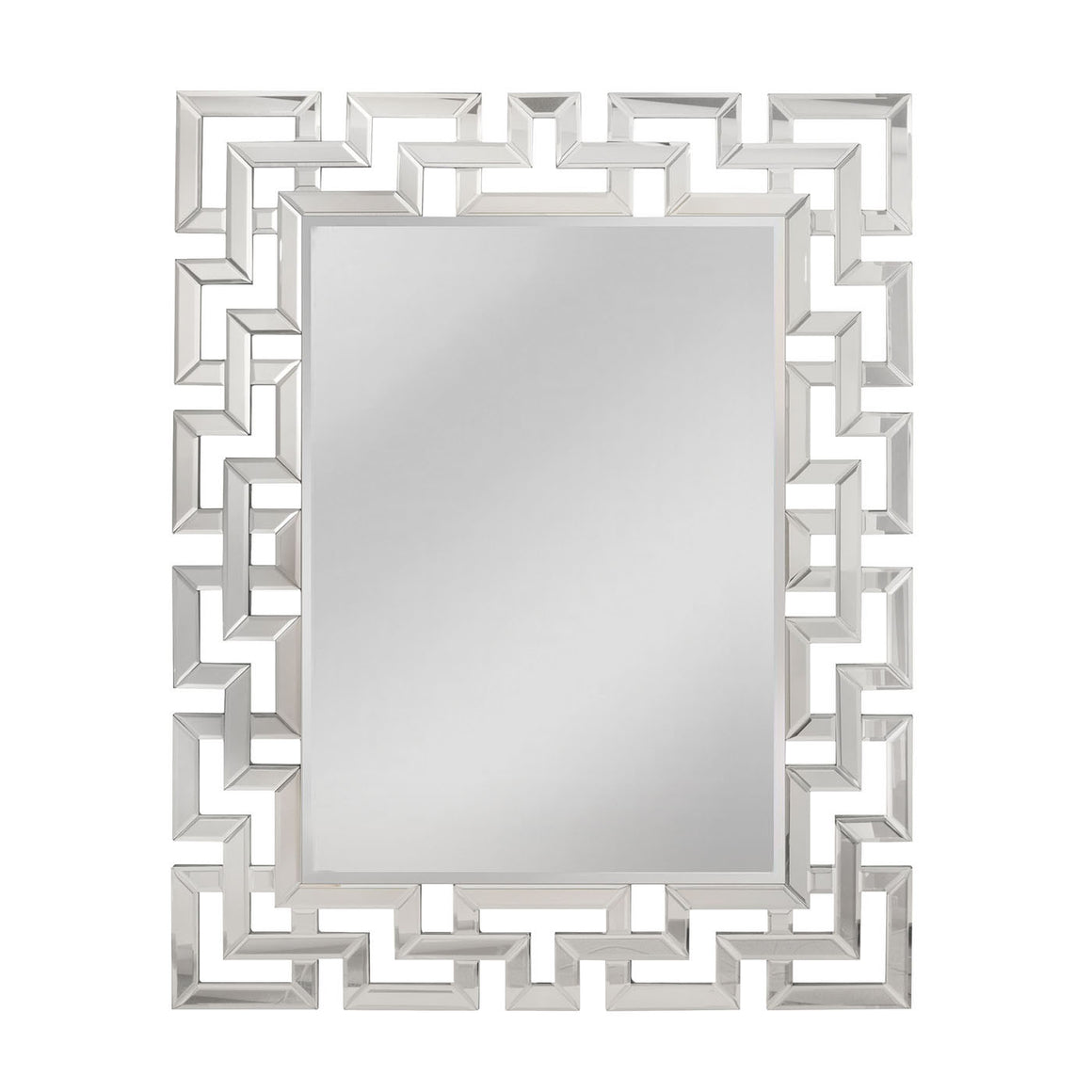 "Greek Key Motif Mirror 47"" x 37"""