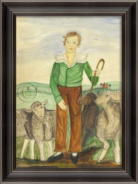 11090 LH Young Shepherd Framed Art