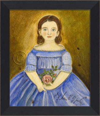 11068 MI Girl Blue Dress Framed Art