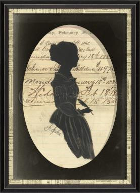 14040 BCNL Silhouette 03 in Oval Framed Art