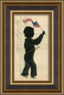 11114 BG Silhouette 09 Framed Art