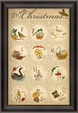88841 LS The 12 Days of Christmas Sign Framed Art