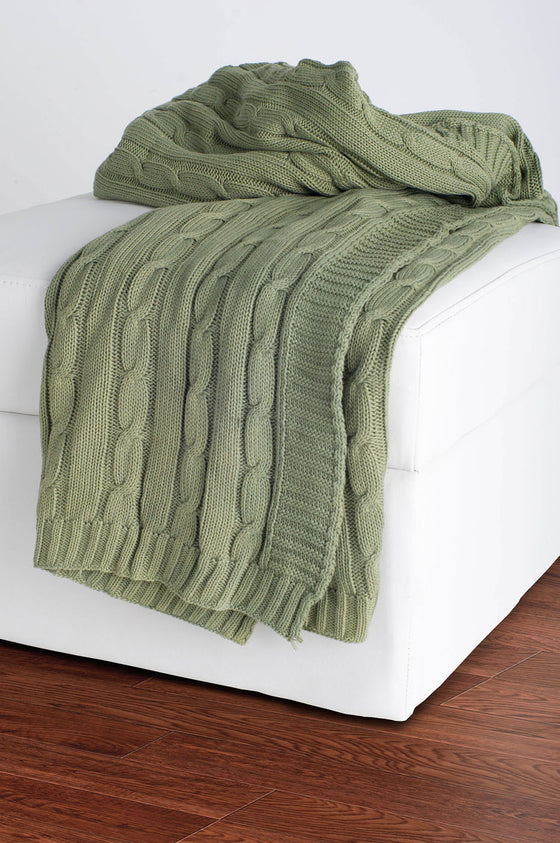Rizzy Olive Throw TH0154