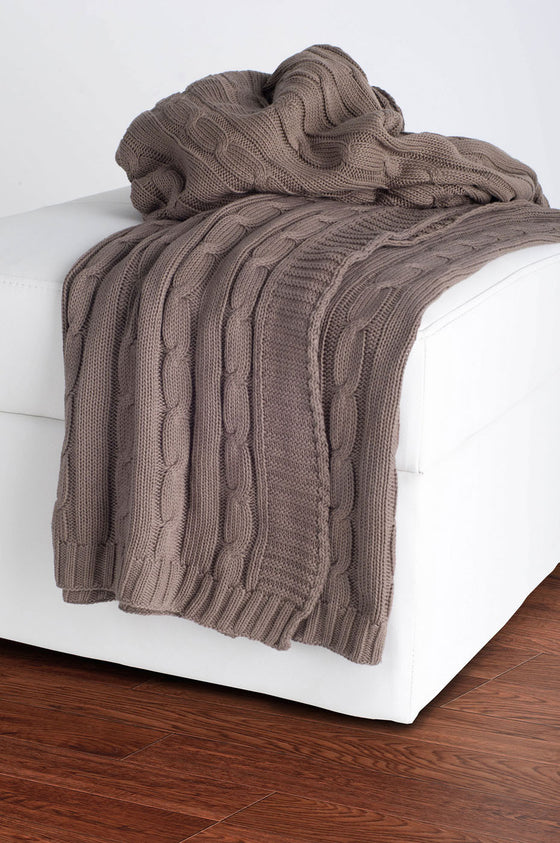 Rizzy Mocha Throw TH0156