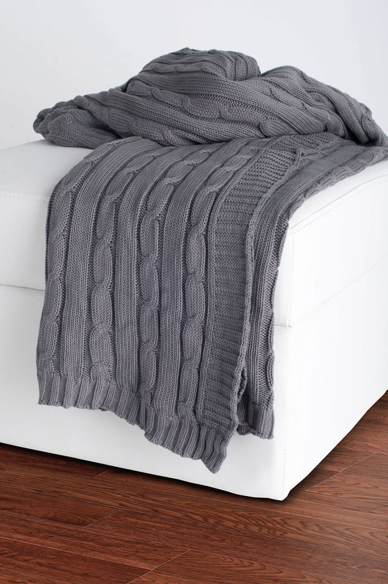 Rizzy Lt Gray Throw TH0157