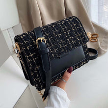 Load image into Gallery viewer, Cotton and Linen Crossbody Bags For Women 2019 Winter Shoulder Messenger Bag Female Mini Chain Handbags and Purses