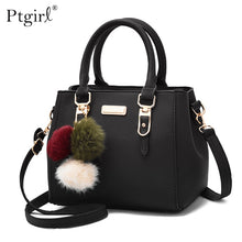 Load image into Gallery viewer, Ptgirl Women Beading Pendant Handbag Ladies Shoulder Messenger Bag High Quality Hairball Bags bolsa feminina transversal fashion