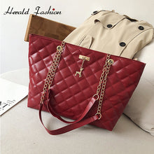 Load image into Gallery viewer, Casual Women Plaid Hand Bag Designer Chain Diamond Pattern Female Shoulder Messenger Bag Large Capacity Office Lady Travel Bag