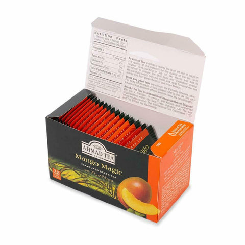 Ahmad Tea Mango Magic Black Tea, 20-Count Boxes (Pack of 6)-Exp.09/15/2023 - USA Shop Center