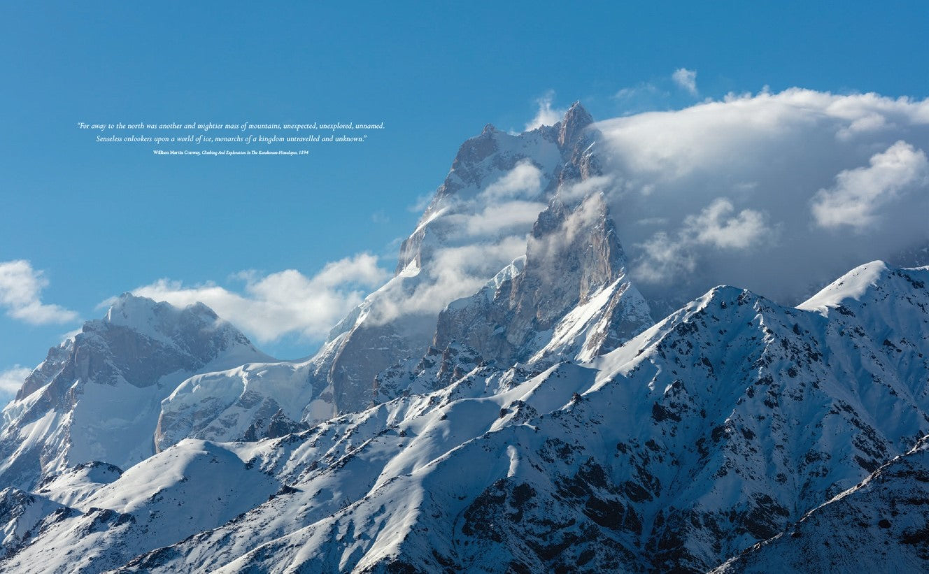 Baintha Brakk (The Ogre) (7285 m) and Latok II (7108 m), Biafo Glacier, Panmah Muztagh, Karakoram Mountain, Pakistan