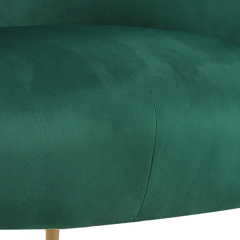 Velvet Upholstered Oyster Armchair Scallop Tub Chair