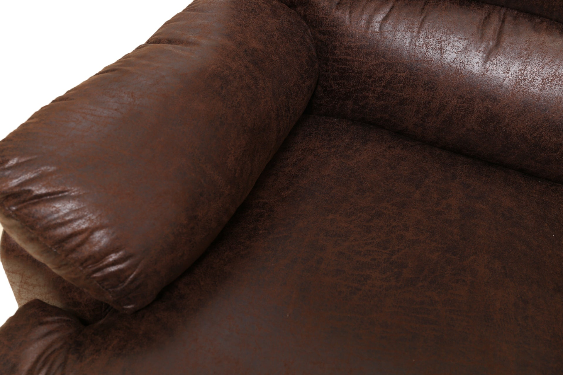 Leather Style Manual Adjustable Recliner Chair