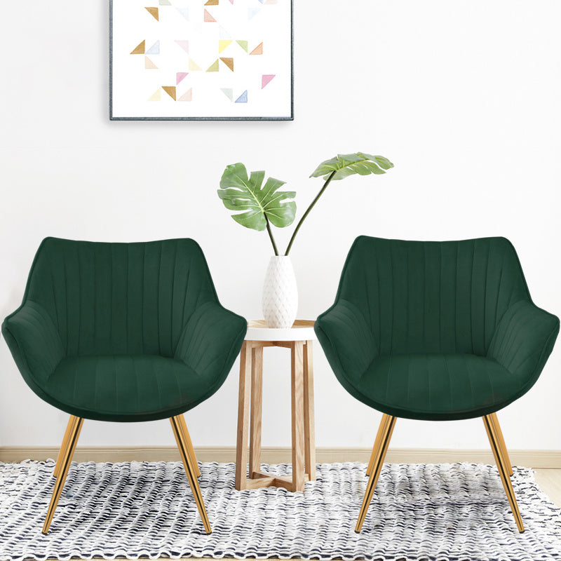 Set Of 2 Mordern Dining Chair Velvet Armchair